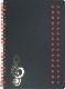 【メモ ノート 音楽 ト音記号 プレゼント】Jiun Wey ミュージックリングノートA5/Orange【文房具 ステーショナリー】
