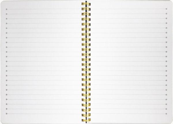 【メモ ノート 音楽 ト音記号 プレゼント】Jiun Wey ミュージックリングノートA5/Yellow【文房具 ステーショナリー】