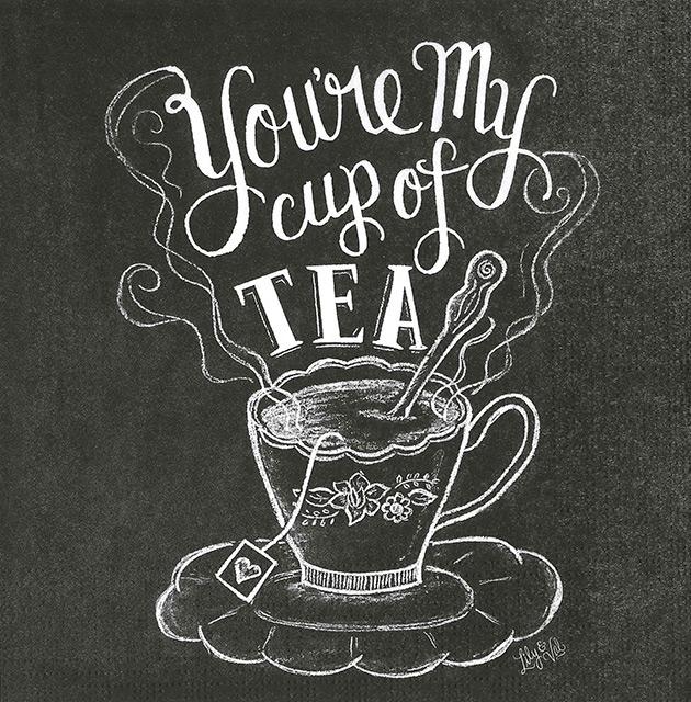 【紅茶・カフェ】ドイツ製 PPD ペーパーナプキン/Blackboard Tea 【Lサイズ 20枚入り】