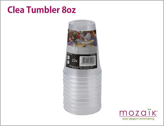 Mozaik(モザイク)プラスチック製 カップ クリアタンブラー230ml 【10個入り】