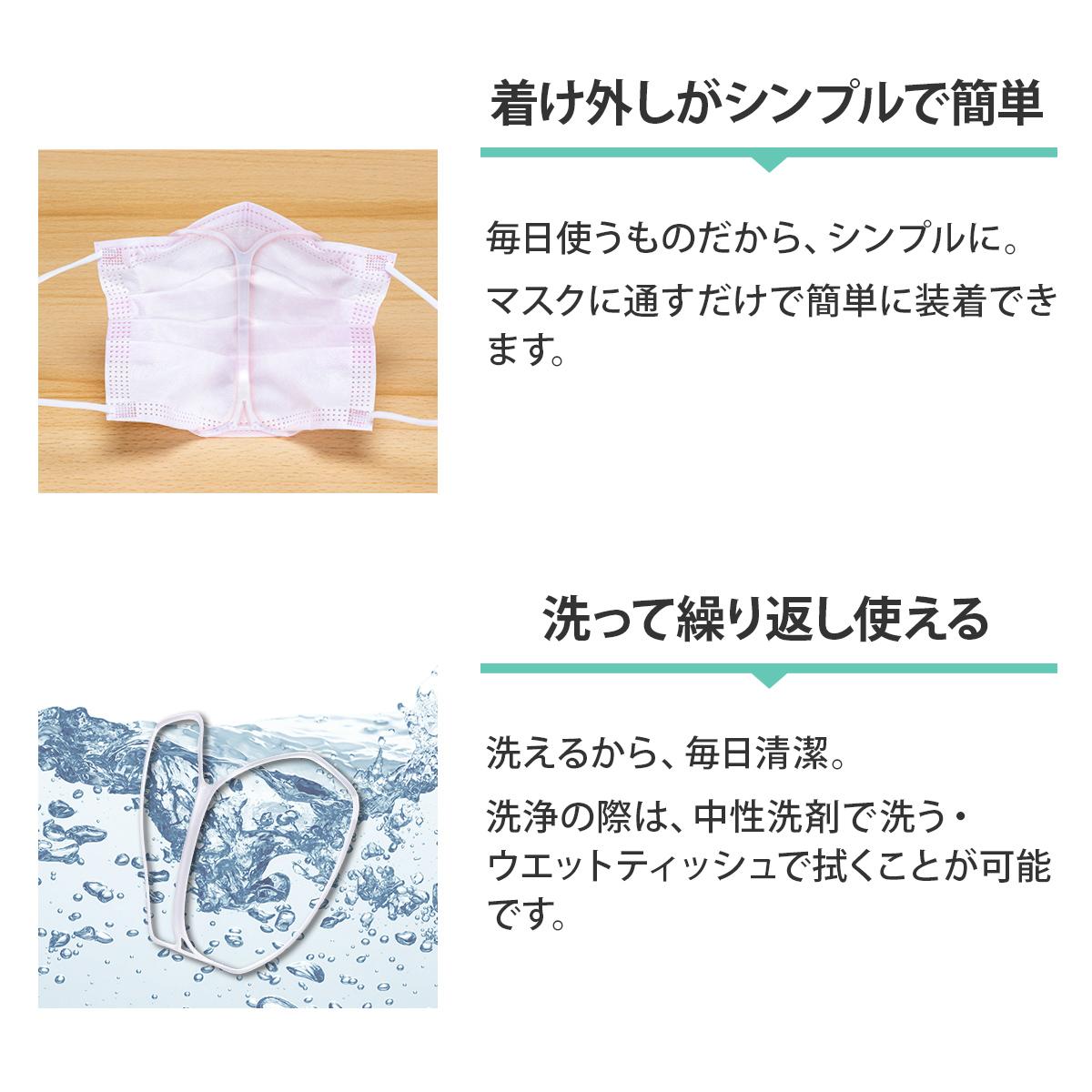 【3set】立体 インナーマスク スリムライト ブラック