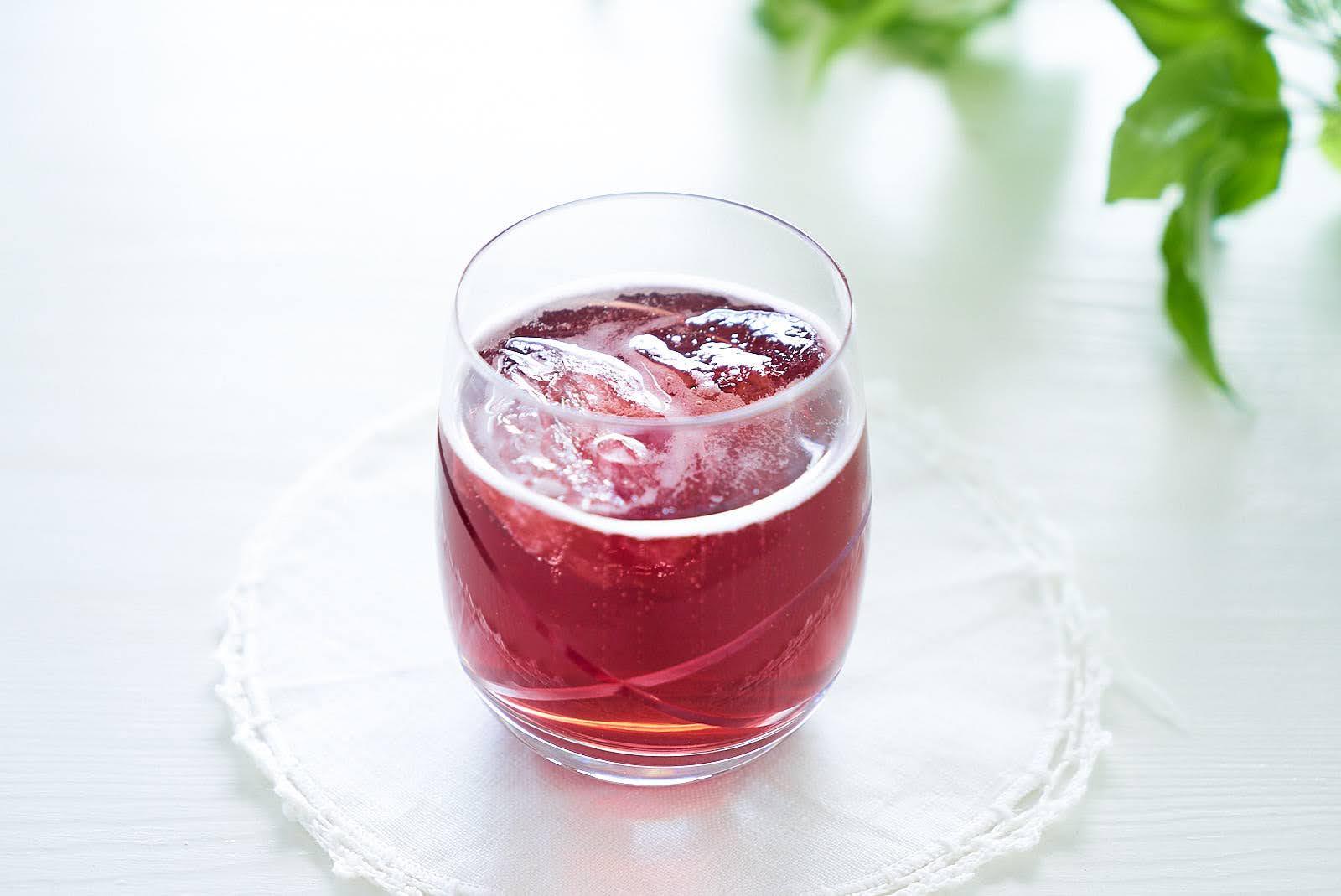 【黒酢を使っているのに飲みやすい♪】 はちみつとブルーベリーのお酢 300ml