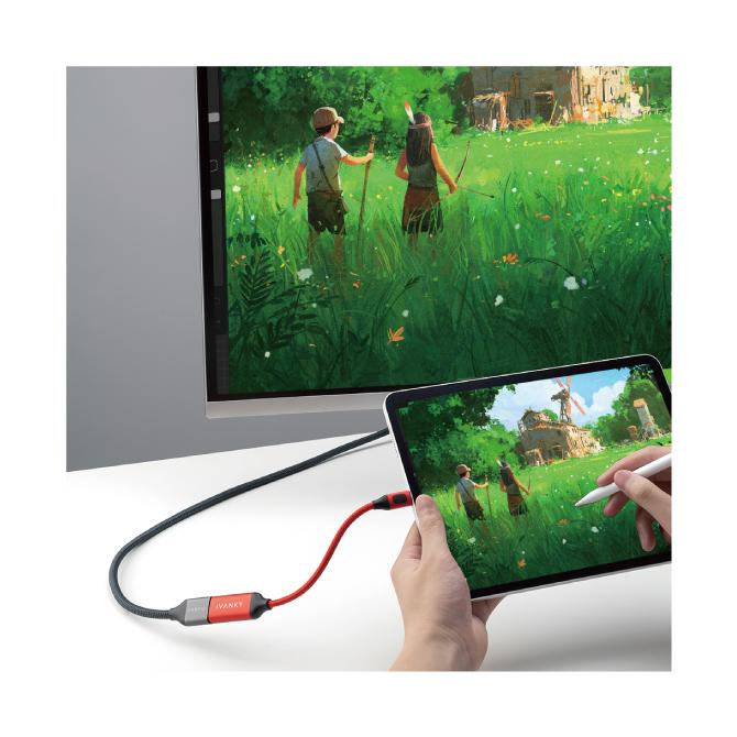 4K/60Hz対応 USB-C to HDMI Adapter【iVANKY】【20cm】【SG】