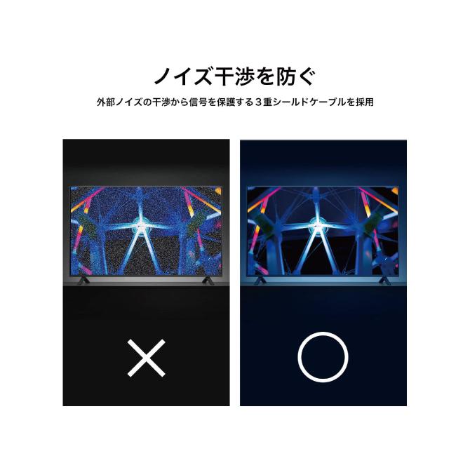 ミニディスプレイポート to HDMI アダプター【20cm】【iVanky】【VBL08】【Black】【SG】