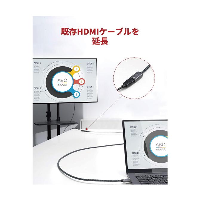 HDMI 2.0 延長 ケーブル【2m】【iVanky】【VBA42】【SG】