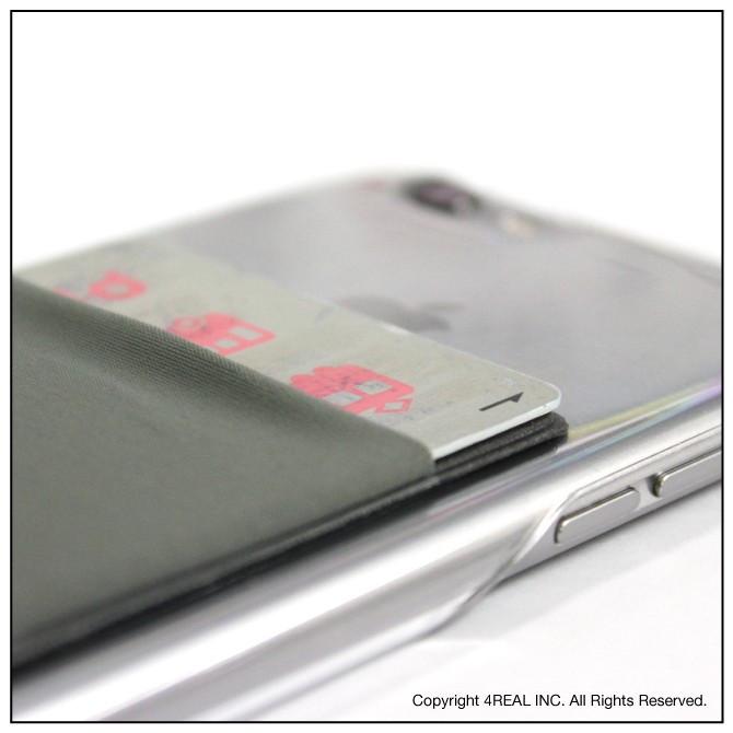 スマホ ポケットカード収納 カードケース 貼り付け 背面 iPhone Android スマートフォン ( SUMAHO-POCKET )