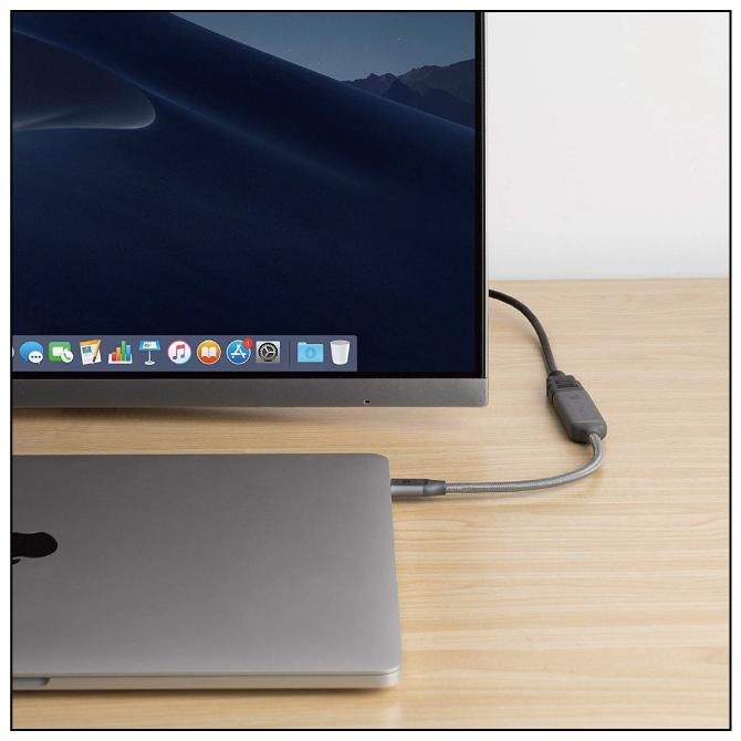 USB Type C to HDMI ケーブル 【iVanky】【VBK03】【0.2m】【Grey】【SG】