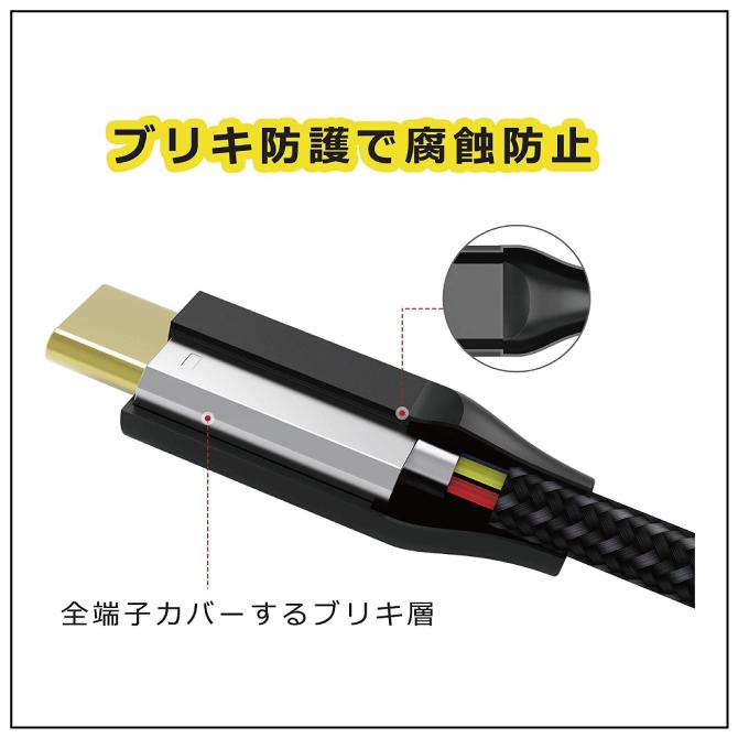 Type-C to HDMI ケーブル【iVanky】【2m】【Grey&Black】【4K@60Hz】【SG】