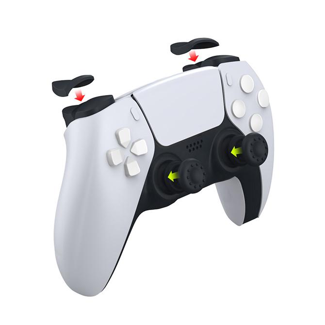 【PS5】コントローラートリガーキット DualSense専用 アナログスティックカバー 操作性アップ 滑り止め 8点セット TP5-0513