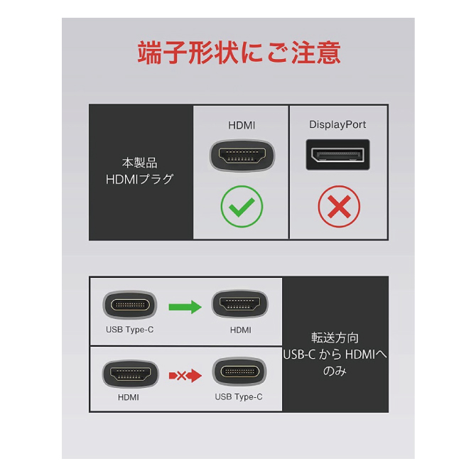 USB Type-C to HDMI Cable【2m】【iVANKY】【VBD61】【201106】【SG】