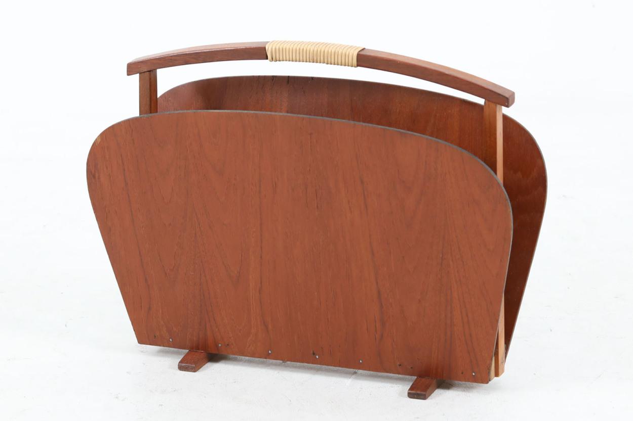デンマーク製 マガジンラック チーク材 北欧家具ビンテージ/DK12355