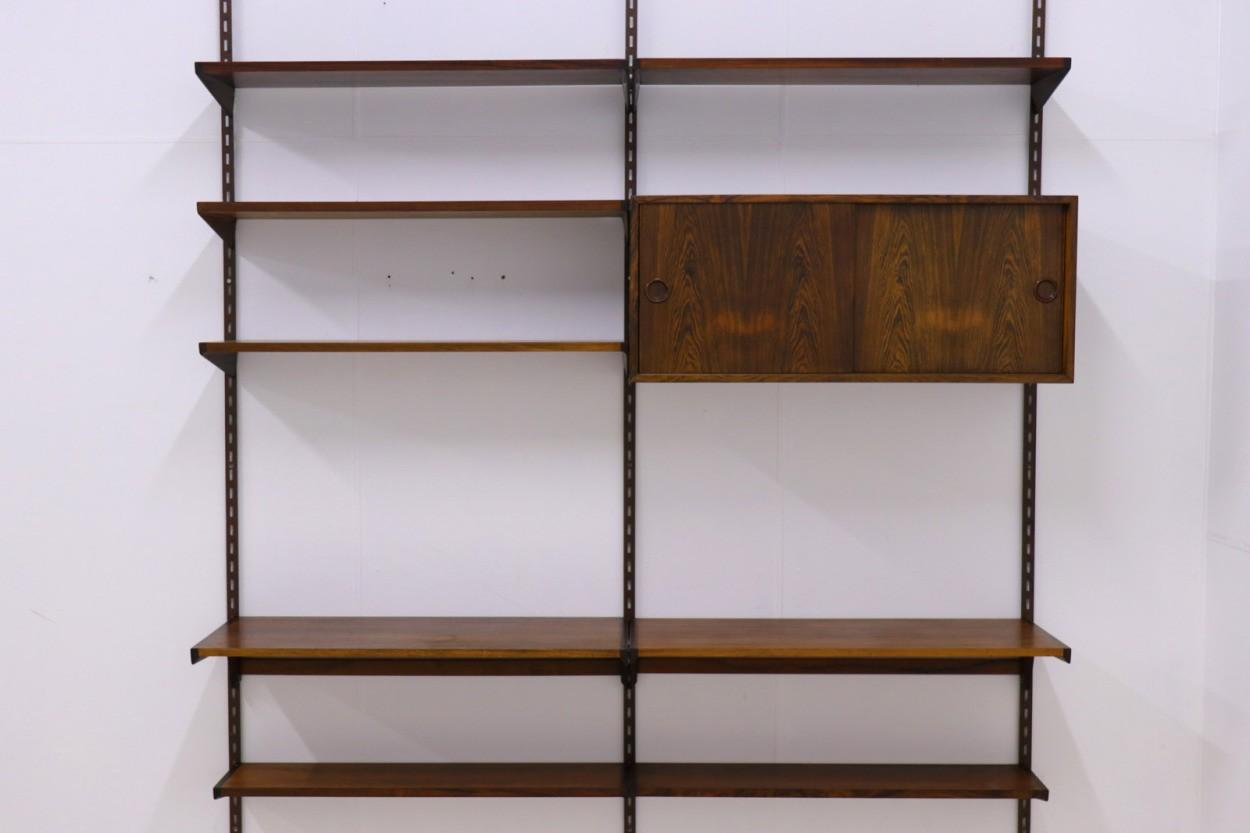 Kai Kristiansen(カイ・クリスチャンセン) システムシェルフ/ウォールシェルフ/飾り棚 ローズウッド材 北欧家具ビンテージ デンマーク製/DK9527