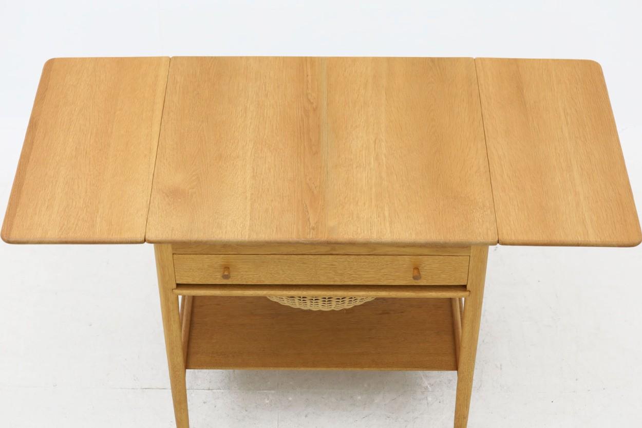 Hans J.Wegner(ハンス・J・ウェグナー) AT33 ソーイングテーブル オーク材 北欧家具ビンテージ/DK10700