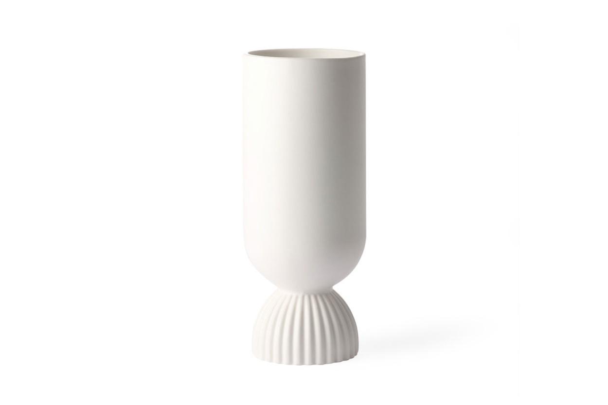 HKliving ギリシャ風のシンプルなフラワーベース 高さ24cm ホワイト