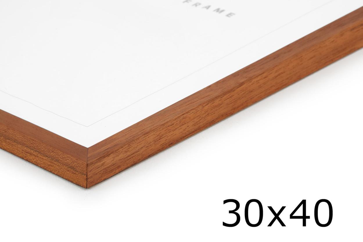 CHLOROS(クロロス) チーク無垢材天然木のシンプルなポスターフレーム 30x40cm