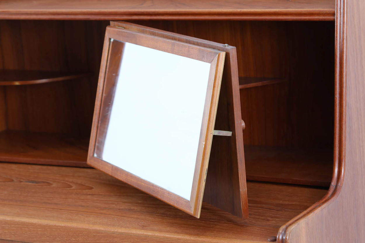 デンマーク製 ライティングビューロ/机 チーク材 北欧家具ビンテージ/DK11509