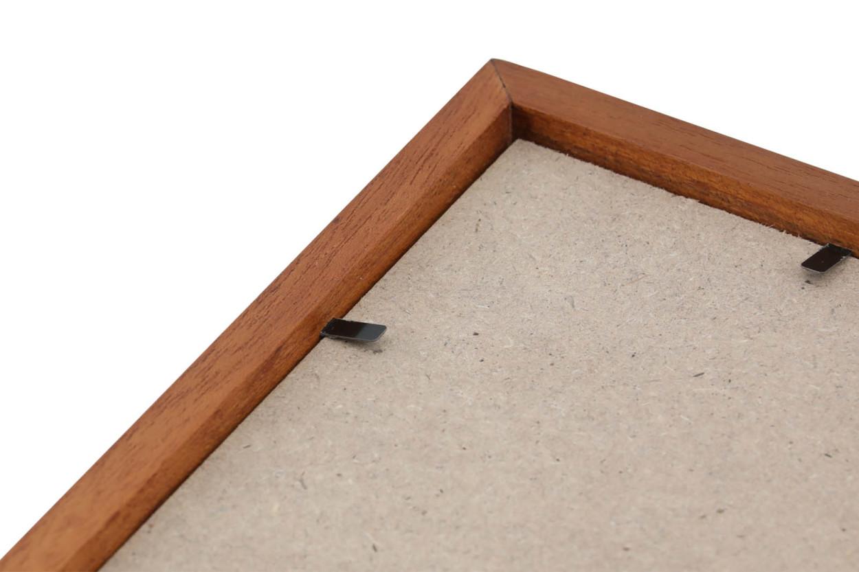 CHLOROS(クロロス) チーク無垢材天然木のシンプルなポスターフレーム 50x70cm