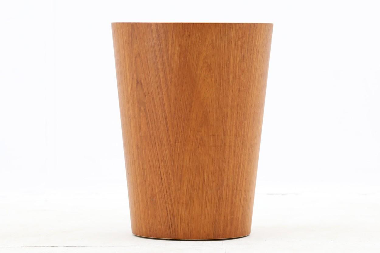 スウェーデン製 ダストボックス/ゴミ箱 チーク材 北欧家具ビンテージ SERVEX/DK9781
