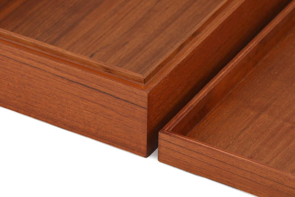CHLOROS(クロロス) チーク材天然木のシンプルな箱/お道具箱 A4サイズ