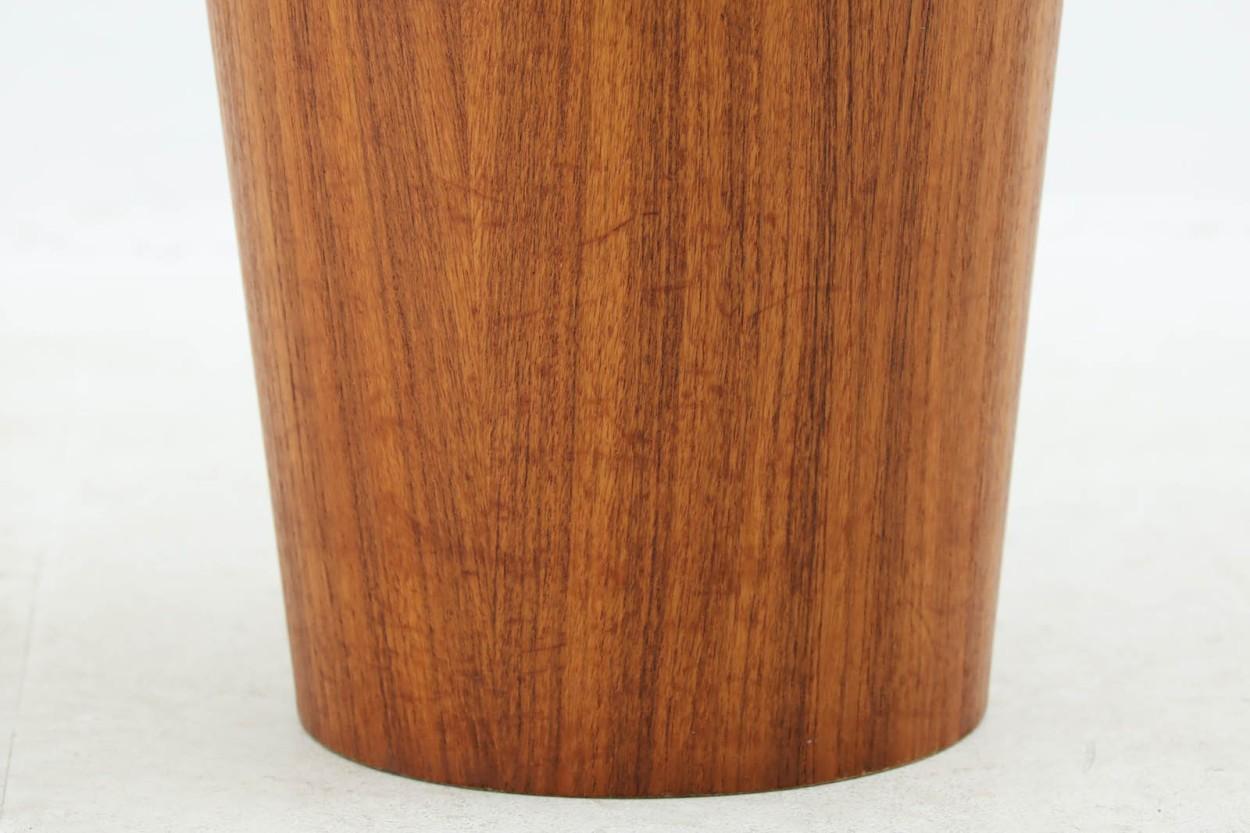 スウェーデン製 ダストボックス/ゴミ箱 チーク材 北欧家具ビンテージ SERVEX/DK10141