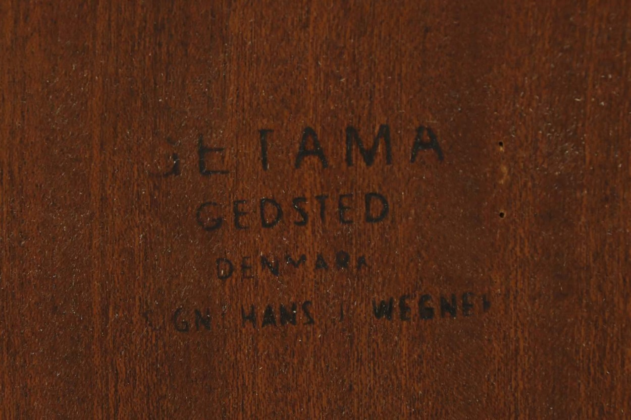 Hans J.Wegner(ハンス・J・ウェグナー) ベッドサイドテーブル チーク材 GETAMA/ゲタマ 北欧家具ビンテージ デンマーク製/DK10106