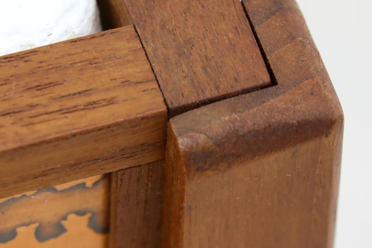 デンマーク製 チーク材×コッパー プランター 北欧家具ビンテージ/DK10559