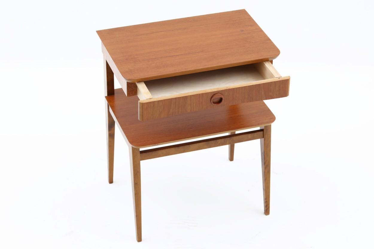 スウェーデン製 サイドチェスト チーク材×ビーチ材 北欧家具ビンテージ/DK10955
