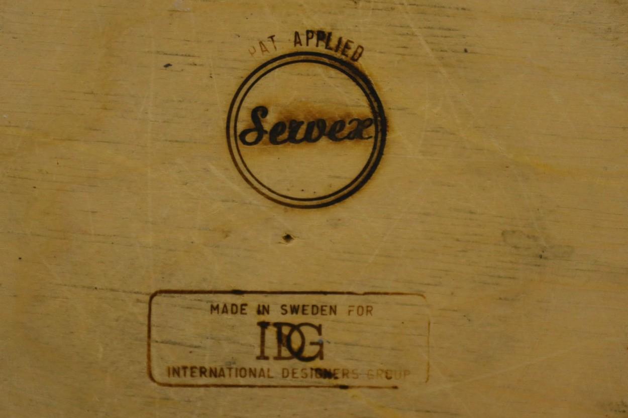 スウェーデン製 ダストボックス/ゴミ箱 チーク材 北欧家具ビンテージ SERVEX/DK10142