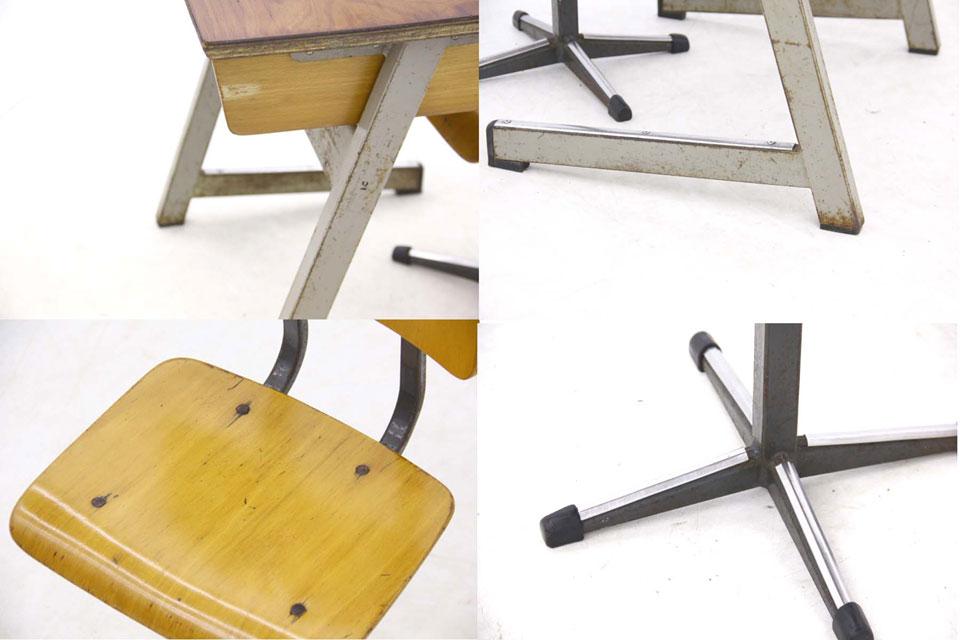 オランダ製 小ぶりなキッズ用デスク & チェアセット 北欧家具ビンテージ/DK7106