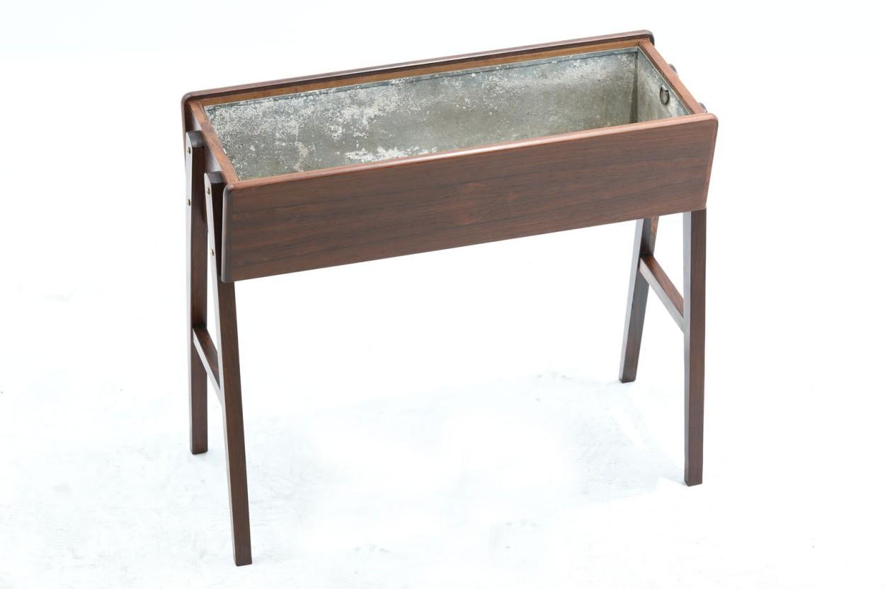 デンマーク製 ローズウッド材 プランター 北欧家具ビンテージ/DK10174