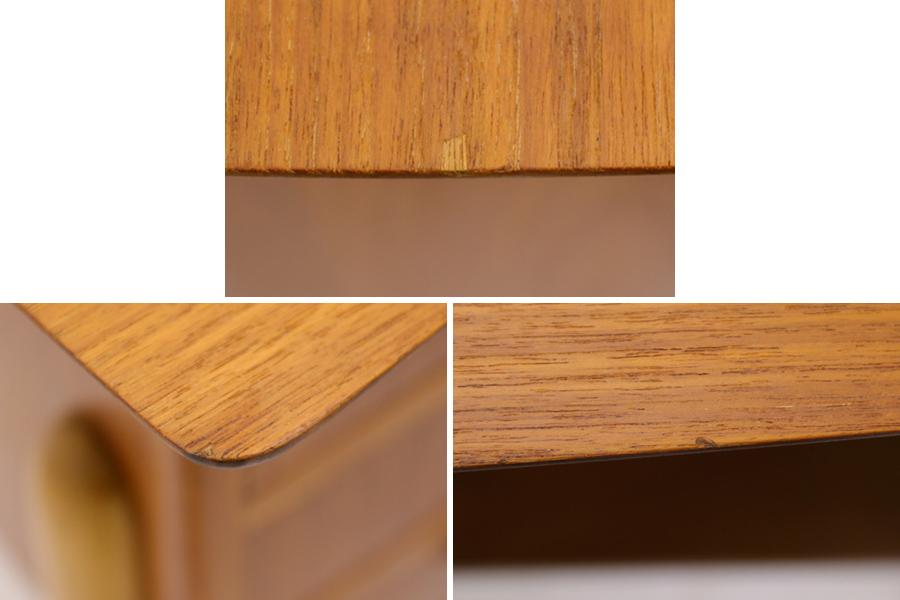 デンマーク製 両袖デスク/机 北欧家具ビンテージ/DK9189