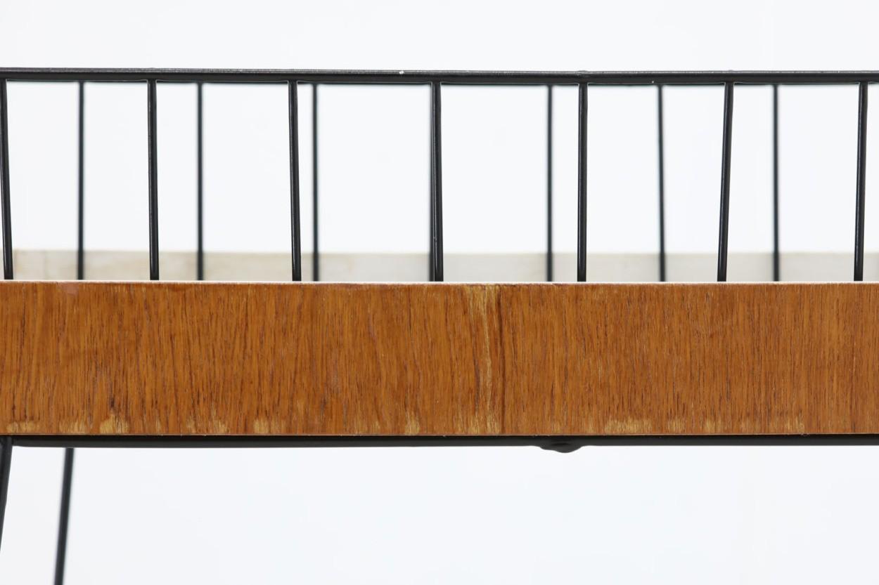 スウェーデン製 チーク材 幅が広めのプランター 北欧家具ビンテージ/DK10568