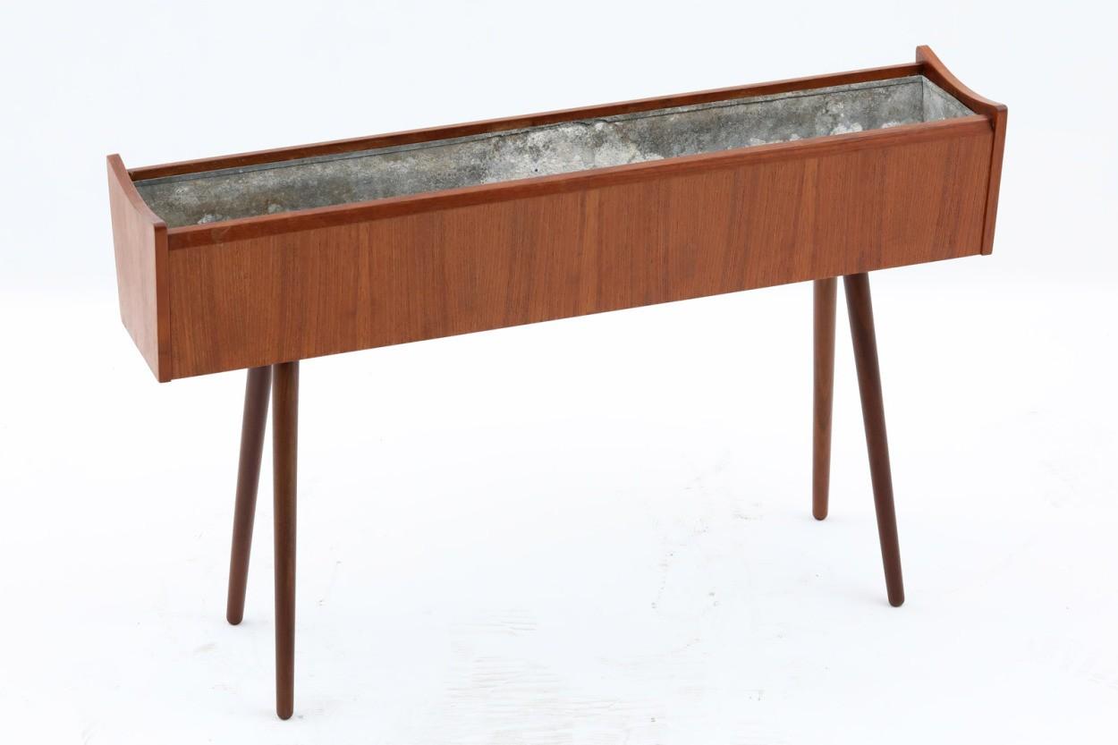 デンマーク製 チーク材 大きめなプランター 北欧家具ビンテージ/DK11086