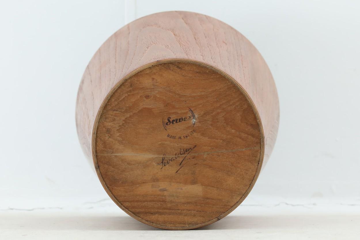 スウェーデン製 ダストボックス/ゴミ箱 チーク材 北欧家具ビンテージ SERVEX/DK10310