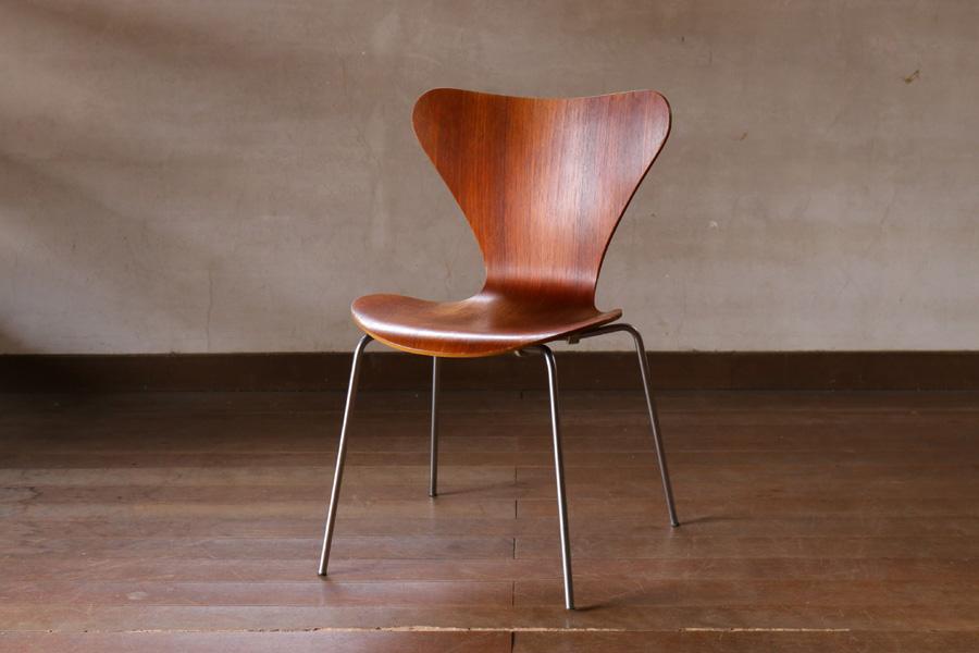 Fritz Hansen(フリッツ・ハンセン) セブンチェア チーク材 Arne Jacobsen(アルネ・ヤコブセン) 北欧家具ビンテージ/DK8917