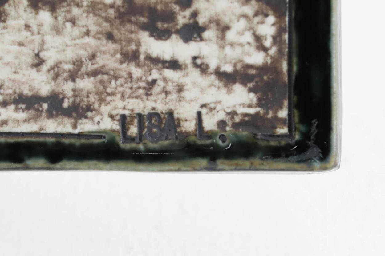 Lisa Larson リサ ラーソン UNIK 陶板 Solros ひまわり/TA11342
