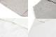 UASHMAMA セルロース 100% 洗えるペーパーランチバッグ モノクロ