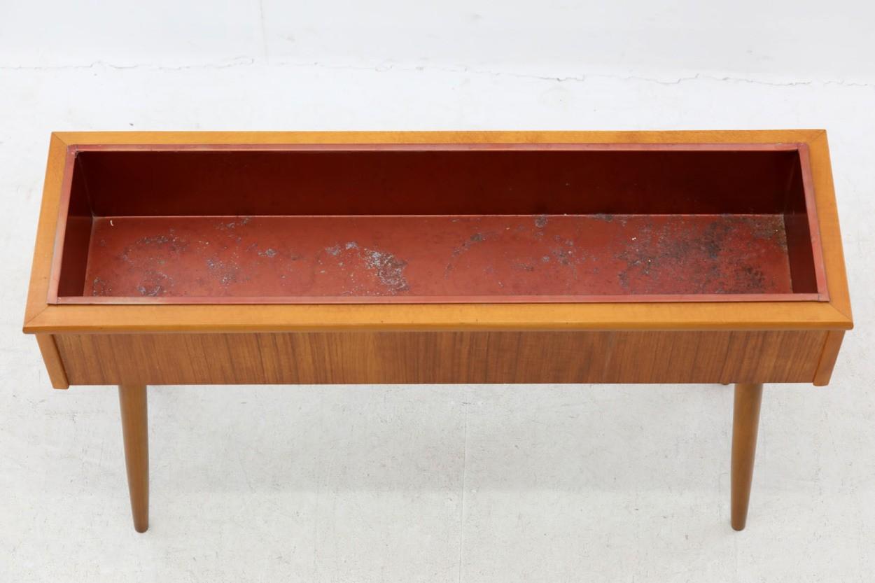 スウェーデン製 プランター チーク×ビーチ材 北欧家具ビンテージ/DK10726