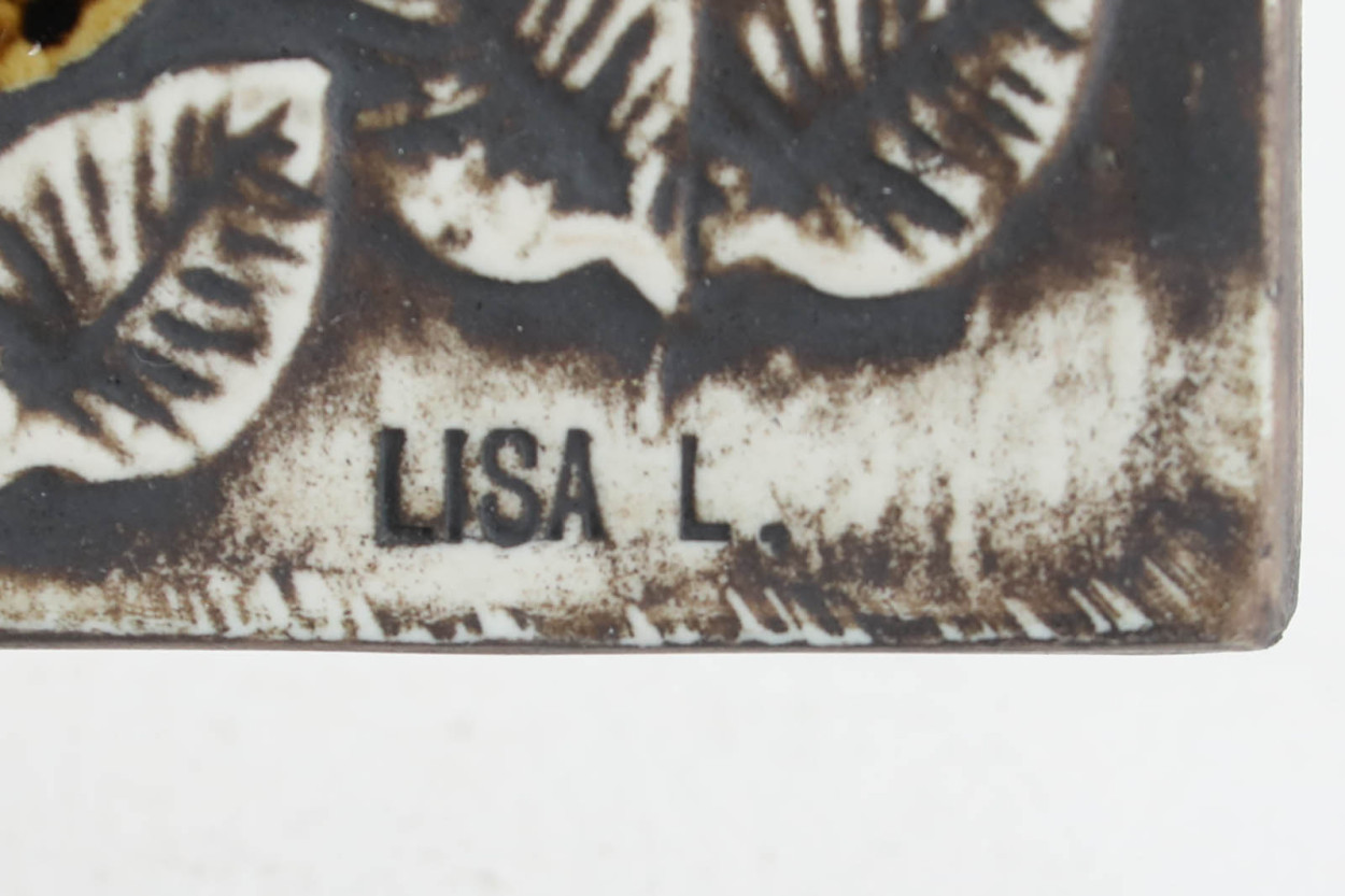 Lisa Larson リサ ラーソン UNIK 陶板 Faglar トリ/TA11343