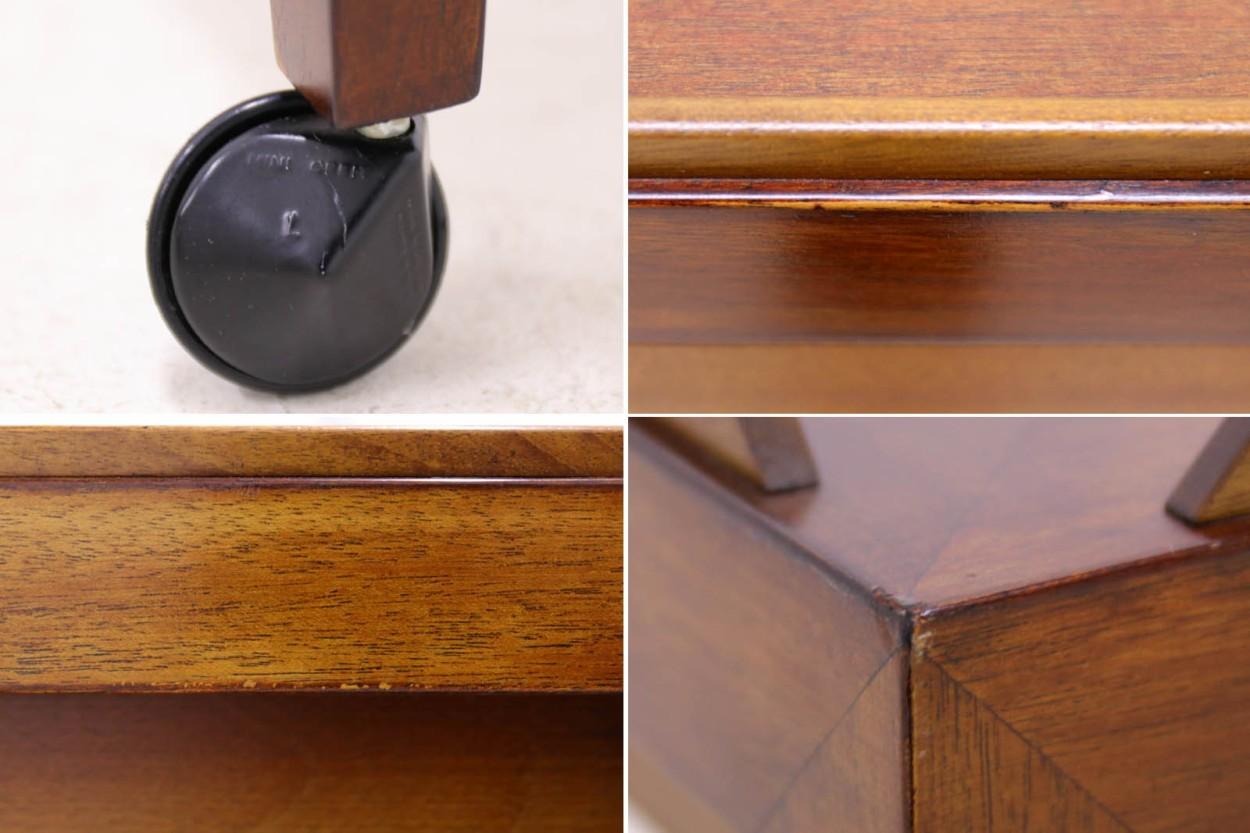 Royal Copenhagen×Haslev サイドテーブル / ワゴン BACA マホガニー材 北欧家具ビンテージ/DK10606