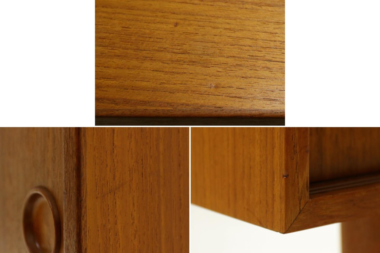 Kai Kristiansen(カイ・クリスチャンセン) 小ぶりなローボード チーク材 北欧家具ビンテージ/DK11547
