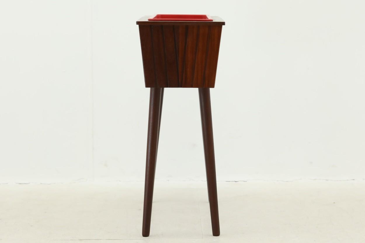 デンマーク製 チーク材 プランター 北欧家具ビンテージ/DK10394