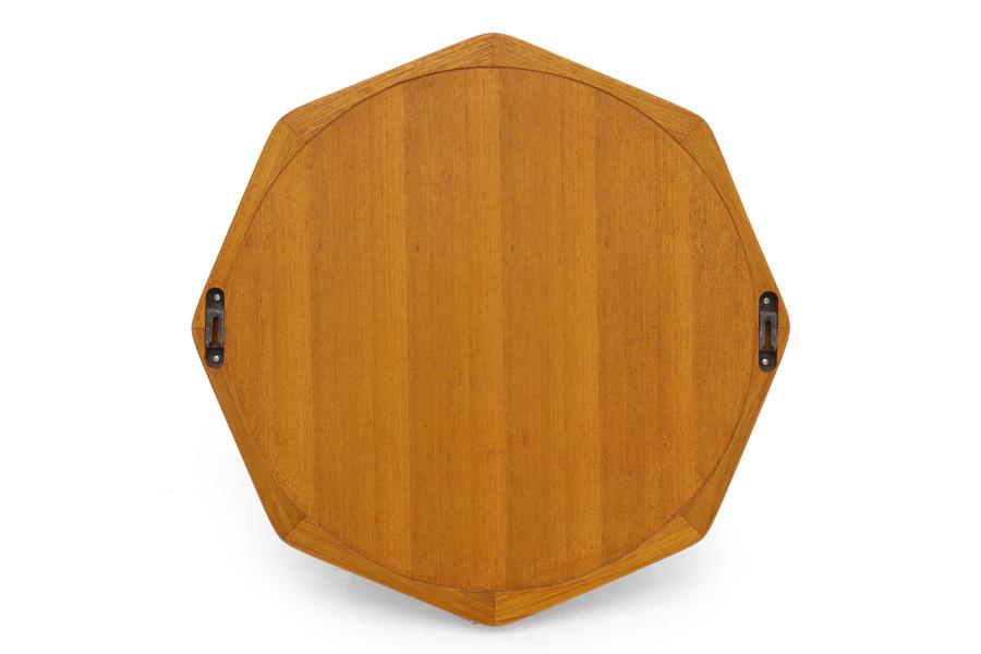 CHLOROS(クロロス) チーク無垢材を使用した八角形のウォールミラー