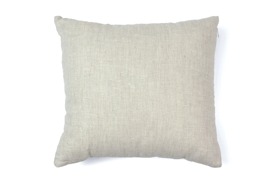 【在庫限り】【30%OFF】CHLOROSクロロス 中綿付きのリネンカバークッション 40×40cm 正方形 ホワイト