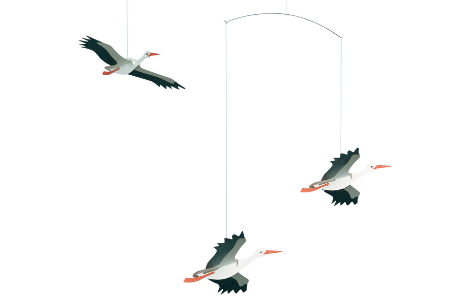 FLENSTED mobiles(フレンステッドモビール) 北欧デンマークモビール Danish Lucky Storks コウノトリ