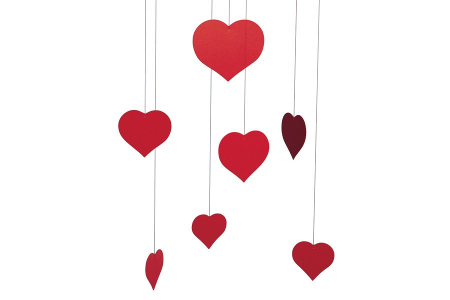 FLENSTED mobiles(フレンステッドモビール) 北欧デンマークモビール Valentine Happy Hearts バレンタイン