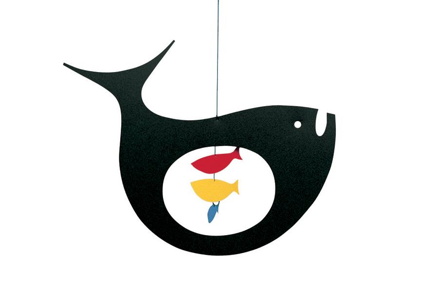 FLENSTED mobiles(フレンステッドモビール) 北欧デンマークモビール Expecting Fish クジラ