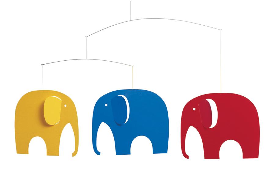 FLENSTED mobiles(フレンステッドモビール) 北欧デンマークモビール Elephant Party 3匹のゾウ