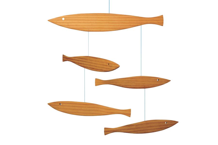 FLENSTED mobiles(フレンステッドモビール) 北欧デンマークモビール Floating Fish 天然木製の魚