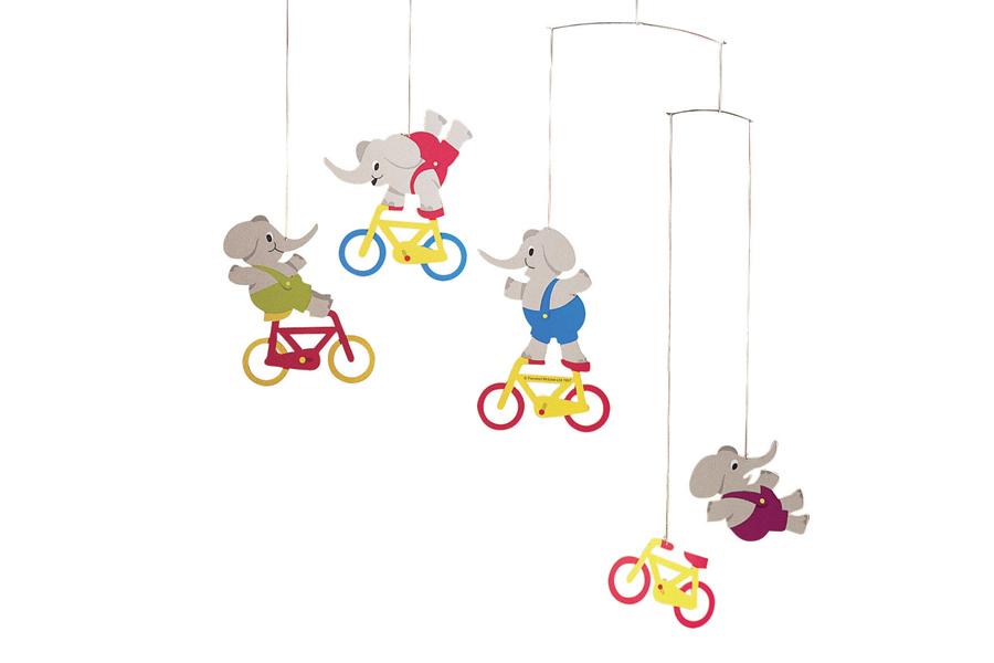 FLENSTED mobiles(フレンステッドモビール) 北欧デンマークモビール Cyclephants 自転車とゾウ